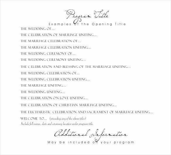 Wedding Reception Programme Template Luxury Wedding Program Templates – 15 Free Word Pdf Psd