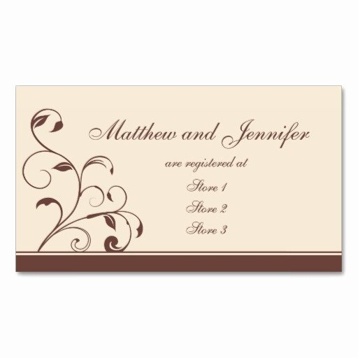 Wedding Registry Card Template Awesome Ko Gift Registry Gift Ftempo