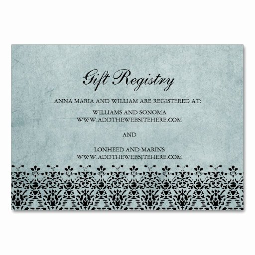 Wedding Registry Card Template Lovely 5 Best Of Wedding Gift Registry Cards Wedding