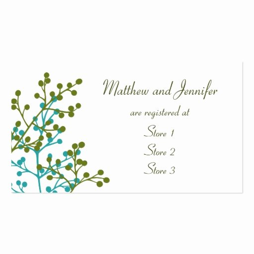 Wedding Registry Card Template New Custom Wedding Gift Registry Cards Double Sided Standard
