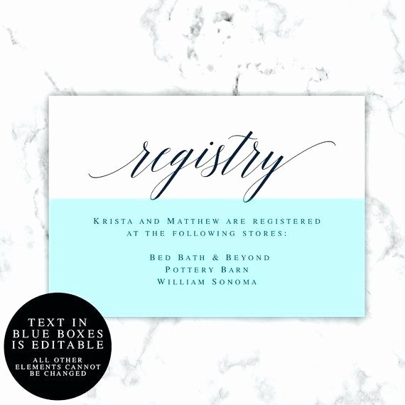 Wedding Registry Card Template New Template for T Registry Cards – Storywave