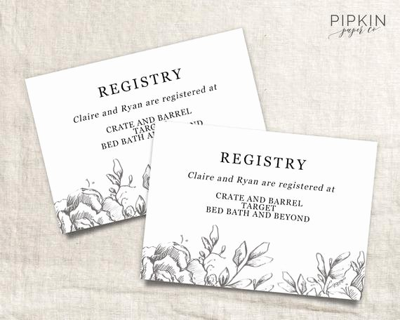 Wedding Registry Card Template Unique Wedding Registry Card Wedding Info Card Download Registry