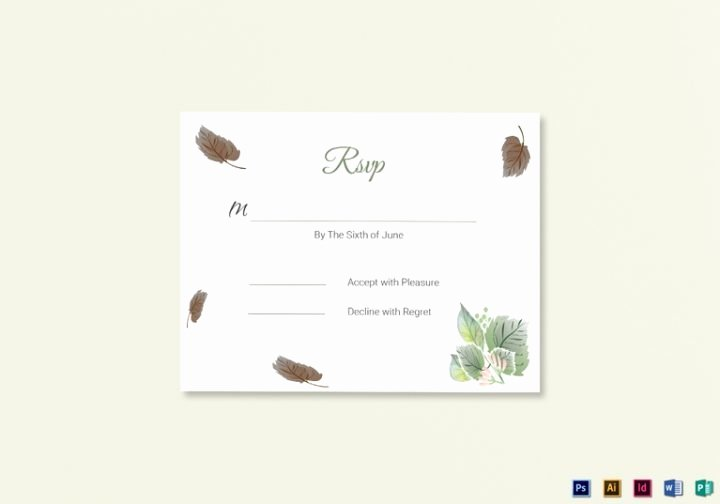 Wedding Rsvp Card Template Awesome 18 Wedding Rsvp Card Templates Editable Psd Ai Eps