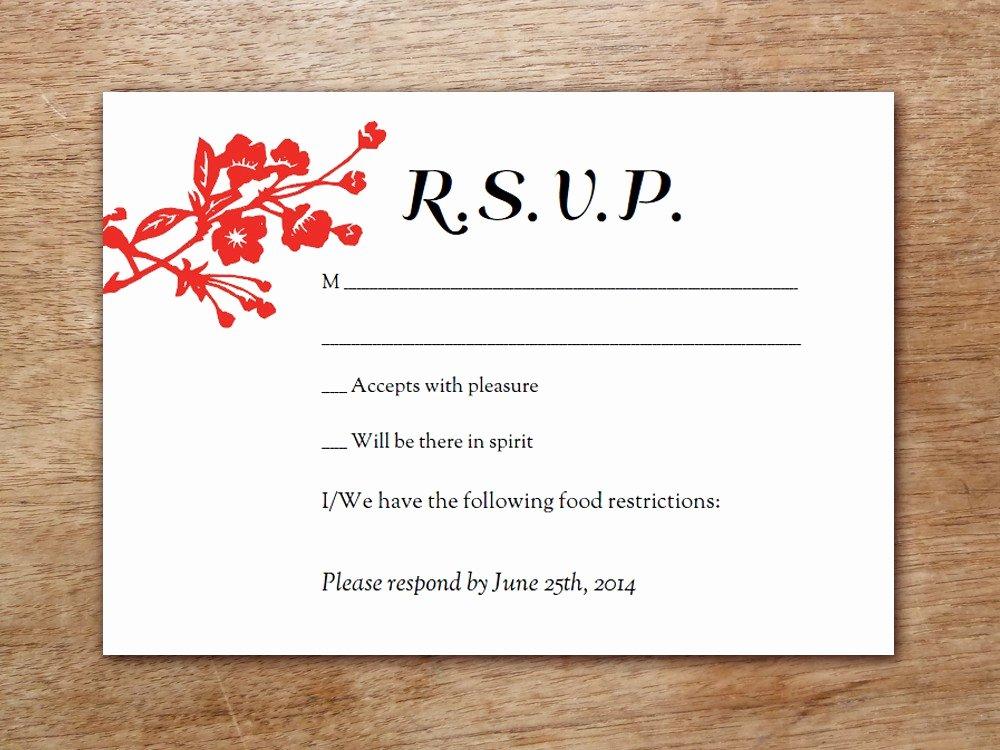 post wedding rsvp postcard template