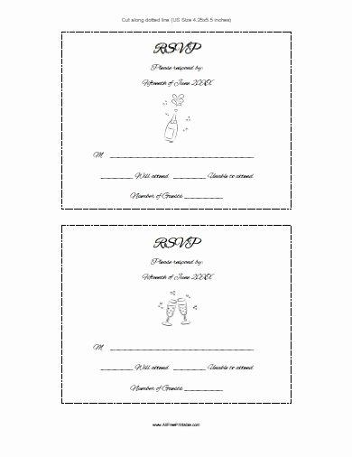 Wedding Rsvp Card Template Best Of Rsvp Card Template Free Printable Allfreeprintable