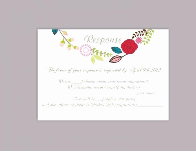 Wedding Rsvp Card Template Inspirational Diy Wedding Rsvp Template Editable Word File Download Rsvp
