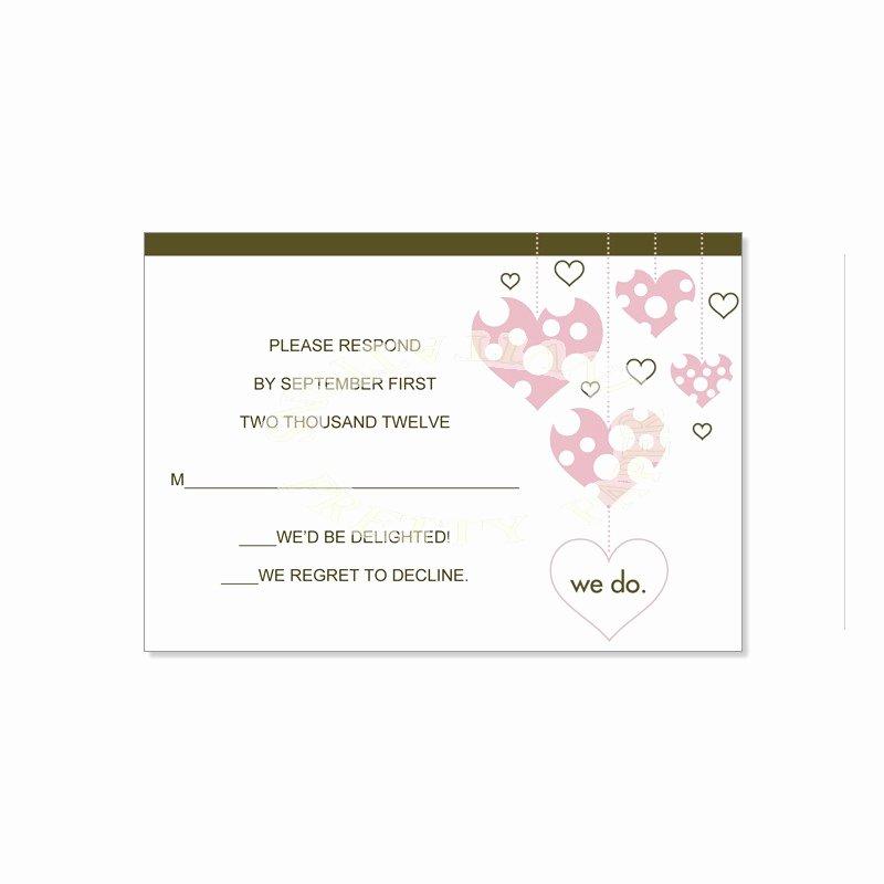 Wedding Rsvp Card Template Inspirational Wedding Response Card Samples Negocioblog
