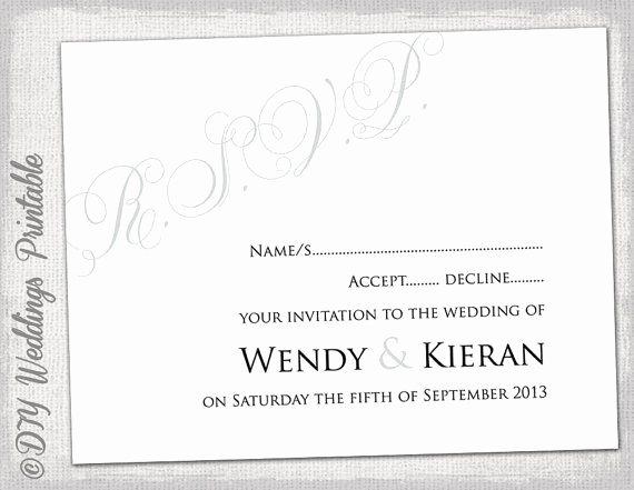 Wedding Rsvp Card Template Lovely 32 Best Rsvp Cards Images On Pinterest