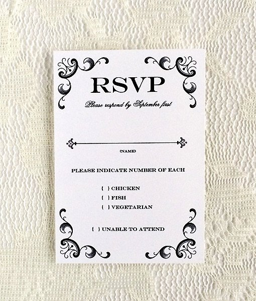 Wedding Rsvp Card Template Luxury Vintage Iron & Lace Rsvp Template