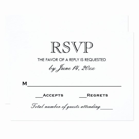 Wedding Rsvp Card Template New Wedding Rsvp Card Black and White