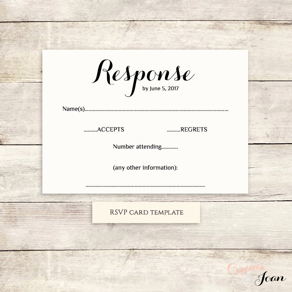 Wedding Rsvp Cards Template Beautiful Printable Wedding Rsvp Template Rsvp Card byron Any