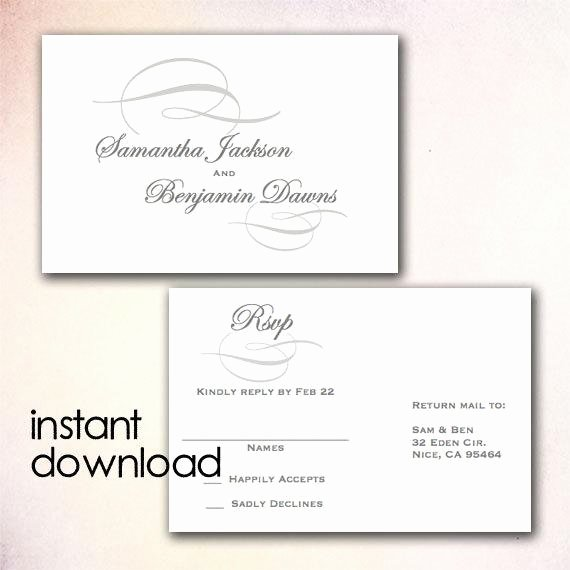 Wedding Rsvp Cards Template Fresh Unavailable Listing On Etsy