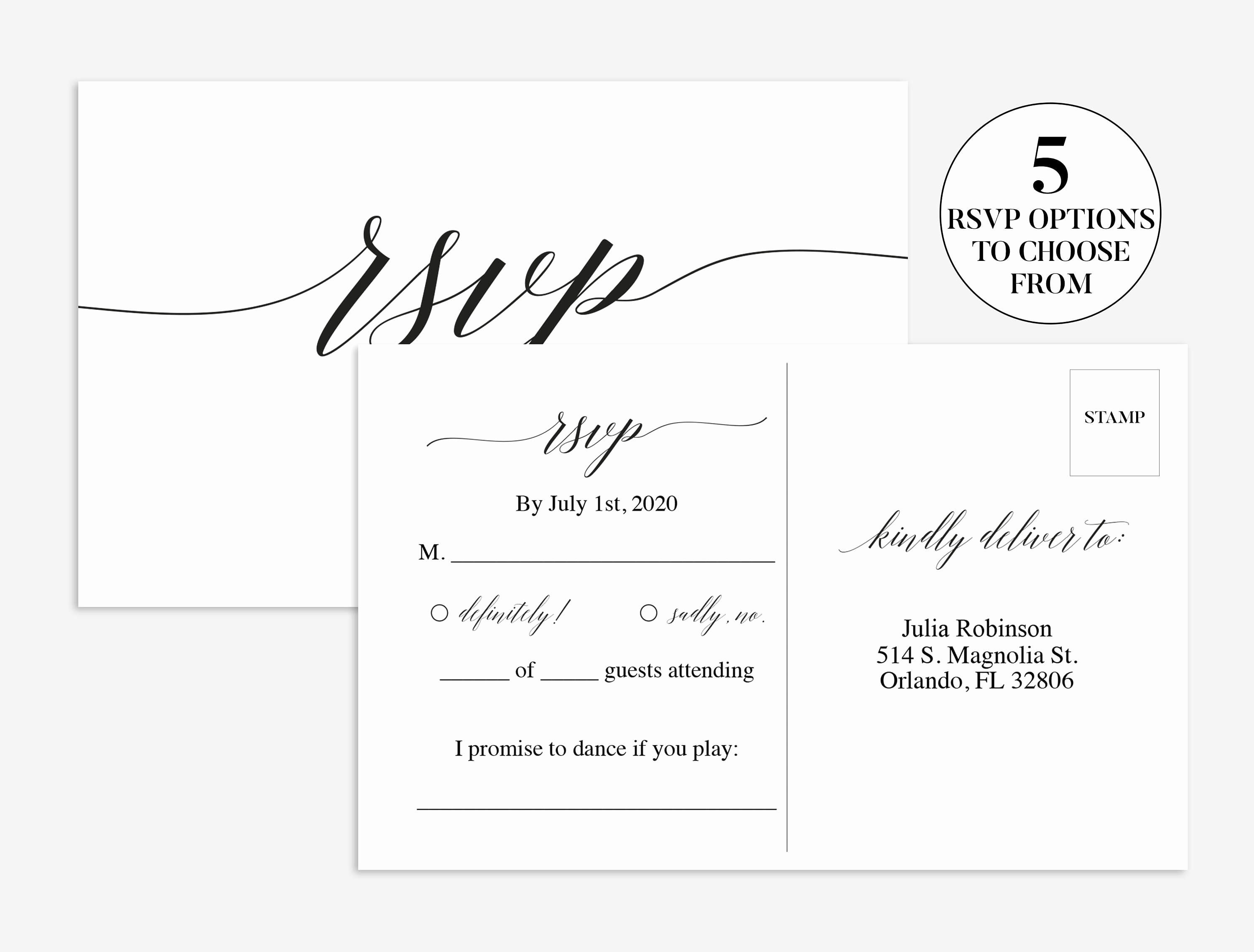 Wedding Rsvp Cards Template New Wedding Rsvp Card Wedding Rsvp Template
