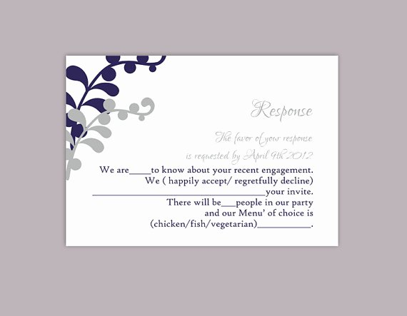 Wedding Rsvp Postcards Template Beautiful Diy Wedding Rsvp Template Editable Text Word File Download