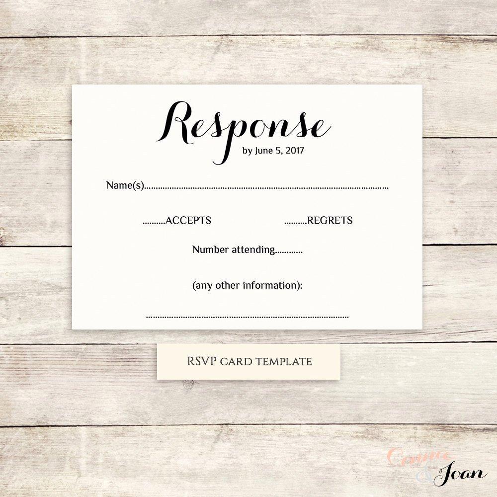 Wedding Rsvp Postcards Template Beautiful Printable Wedding Rsvp Template Rsvp Card byron Any