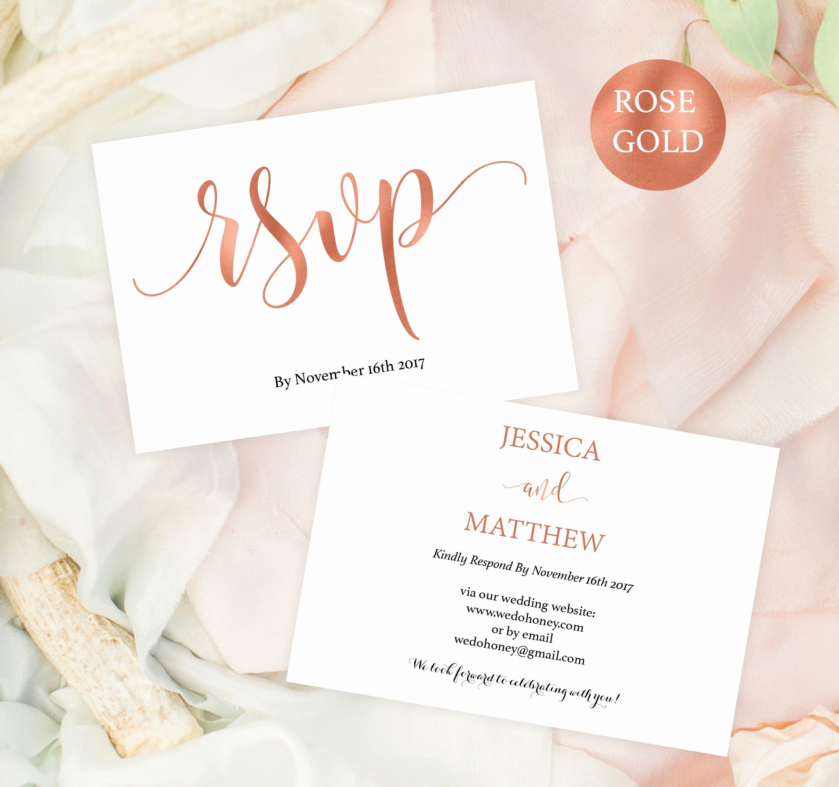 Wedding Rsvp Postcards Template Best Of Wedding Rsvp Postcard Rsvp Template Rsvp Online Rose