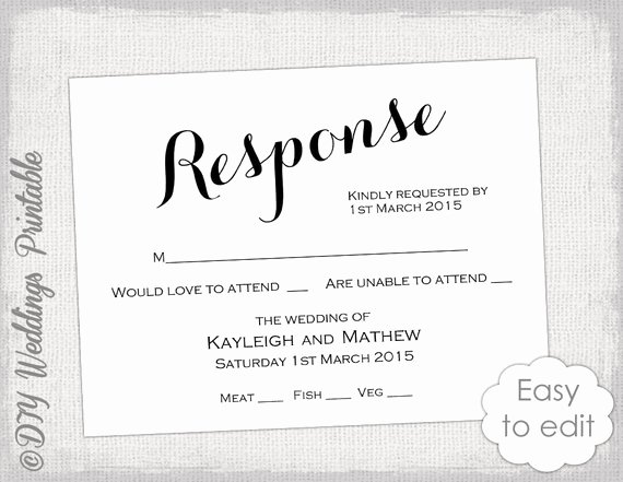 Wedding Rsvp Postcards Template Fresh Rsvp Template Diy Calligraphy Carolyna Printable