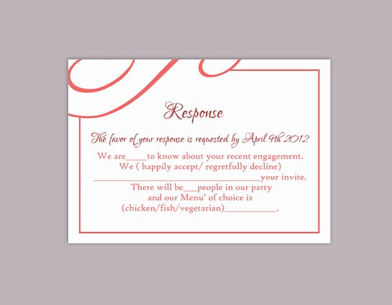 Wedding Rsvp Postcards Template Lovely Diy Wedding Rsvp Template Editable Text Word File Download