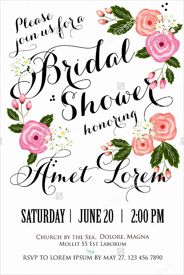 Wedding Shower Invitations Template Beautiful 20 Bridal Shower Invitations Free Psd Vector Eps Png