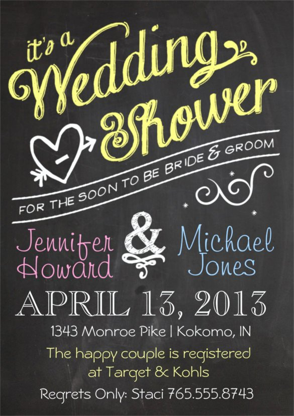 Wedding Shower Invitations Template Beautiful 26 Wedding Shower Invitation Templates – Free Sample