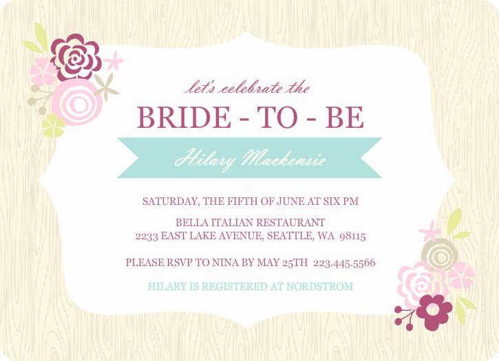 Wedding Shower Invitations Template Inspirational Bridal Shower Invitations Etiquette Template