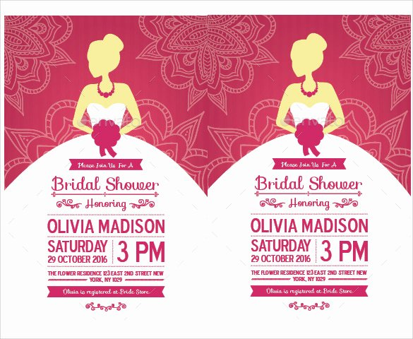 Wedding Shower Invitations Template Unique 30 Best Bridal Shower Invitation Templates