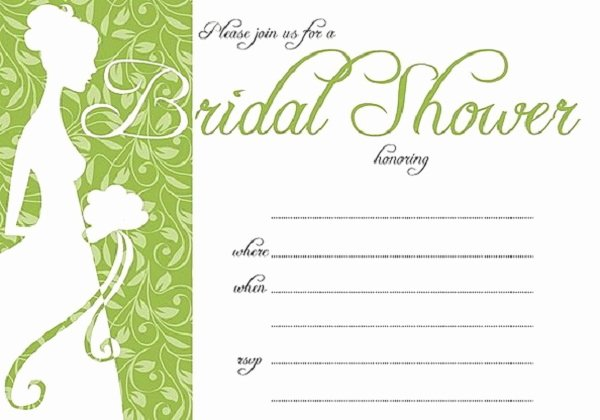 Wedding Shower Invitations Template Unique Bridal Shower Invitations Easyday