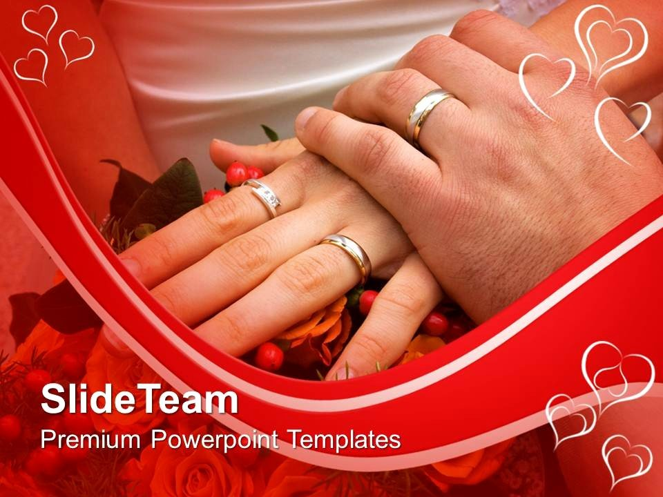 Wedding Slideshow Template Powerpoint Unique Couple with Wedding Rings Powerpoint Templates Ppt themes