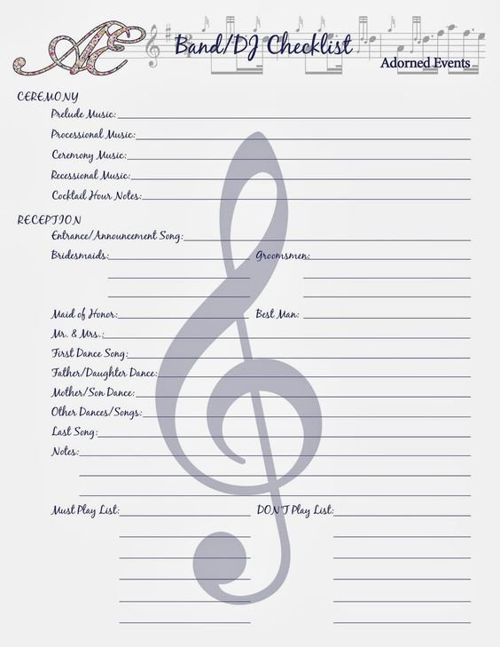 Wedding song List Template Best Of Pinterest • the World's Catalog Of Ideas