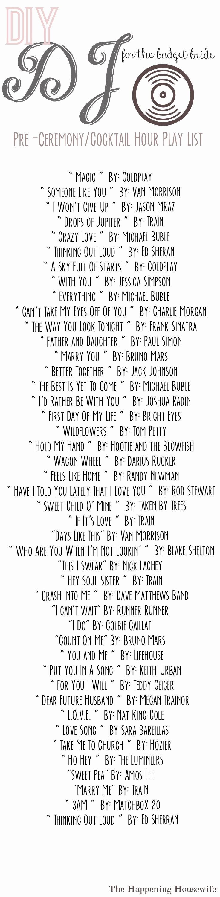 Wedding song List Template New Best 25 Wedding song List Ideas On Pinterest