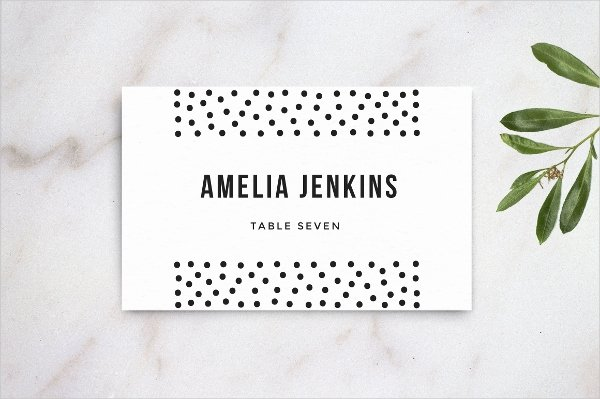 Wedding Table Card Template Best Of 15 Name Card Templates Free Psd Eps Ai format