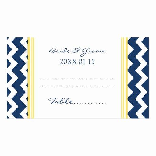 Wedding Table Card Template Best Of Blue Chevron Wedding Table Place Setting Cards Business