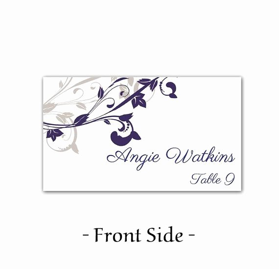 Wedding Table Card Template Best Of Wedding Place Card Template Printable Escort Card Template