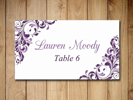 Wedding Table Card Template Elegant Place Card Template Card Templates Printable and Wedding