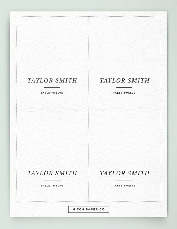Wedding Table Card Template Fresh Printable Table Place Cards Template
