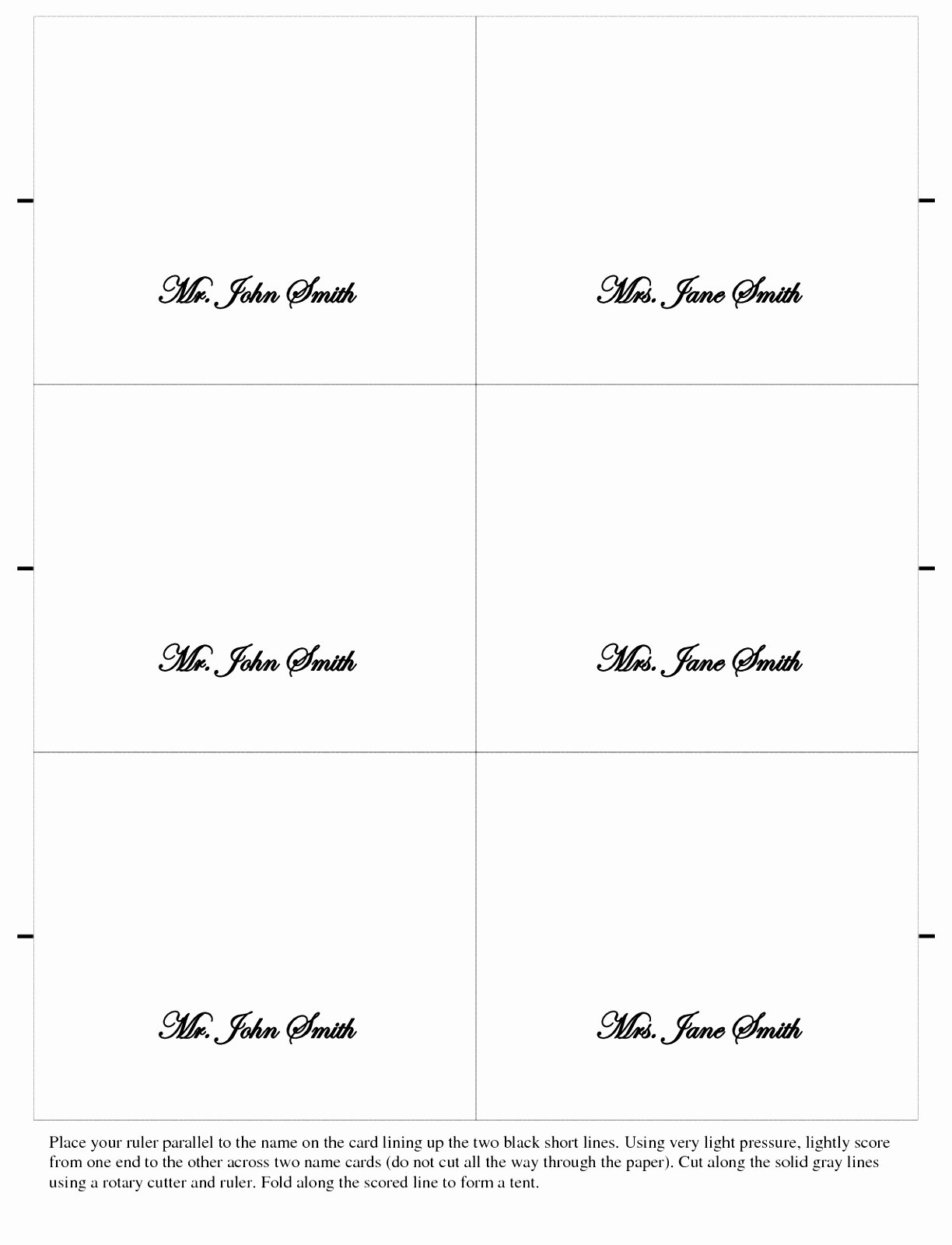 Wedding Table Card Template Inspirational 10 Wedding Place Card Templates Free Download Ueewo