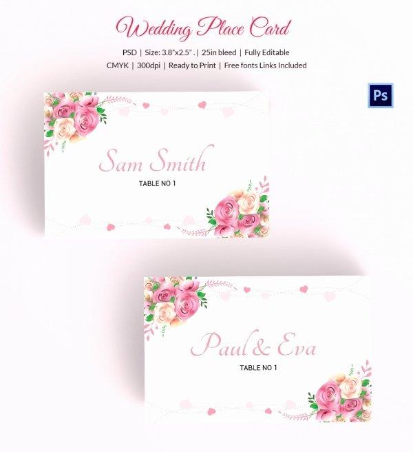 Wedding Table Card Template Inspirational 25 Wedding Place Card Templates