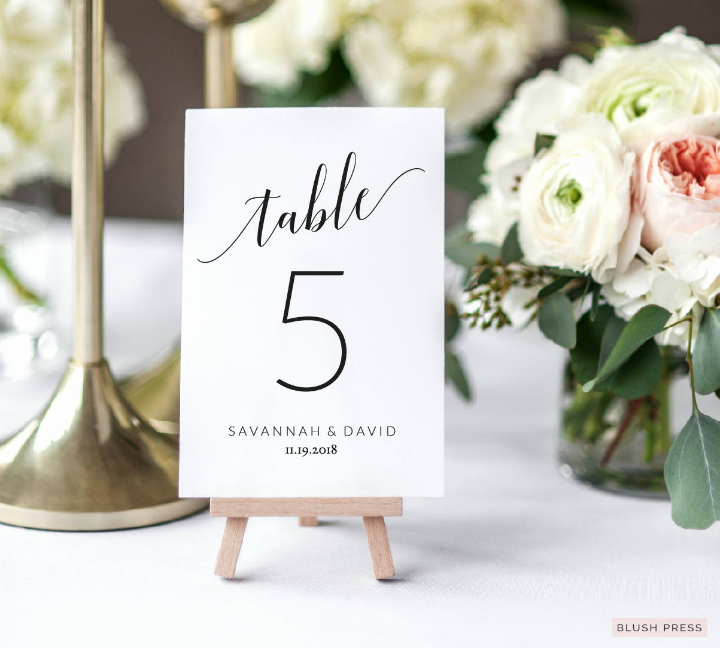 Wedding Table Card Template Luxury 14 Wedding Table Number Designs & Templates Psd Ai