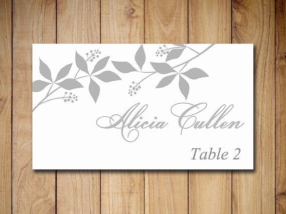 Wedding Table Card Template Luxury Best 25 Place Card Template Ideas On Pinterest