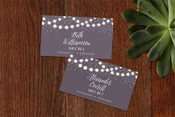Wedding Table Cards Template Best Of 25 Wedding Place Card Templates