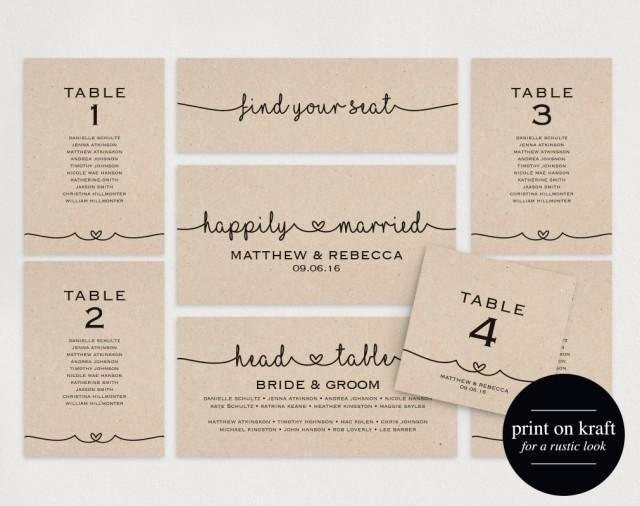 Wedding Table Cards Template Best Of Wedding Seating Chart Seating Plan Template Diy