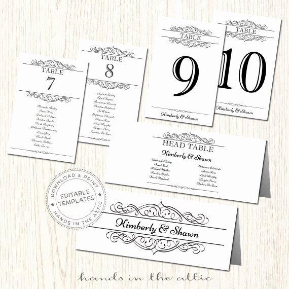 Wedding Table Cards Template Fresh Wedding Seating Chart Template Seating Plan Printable