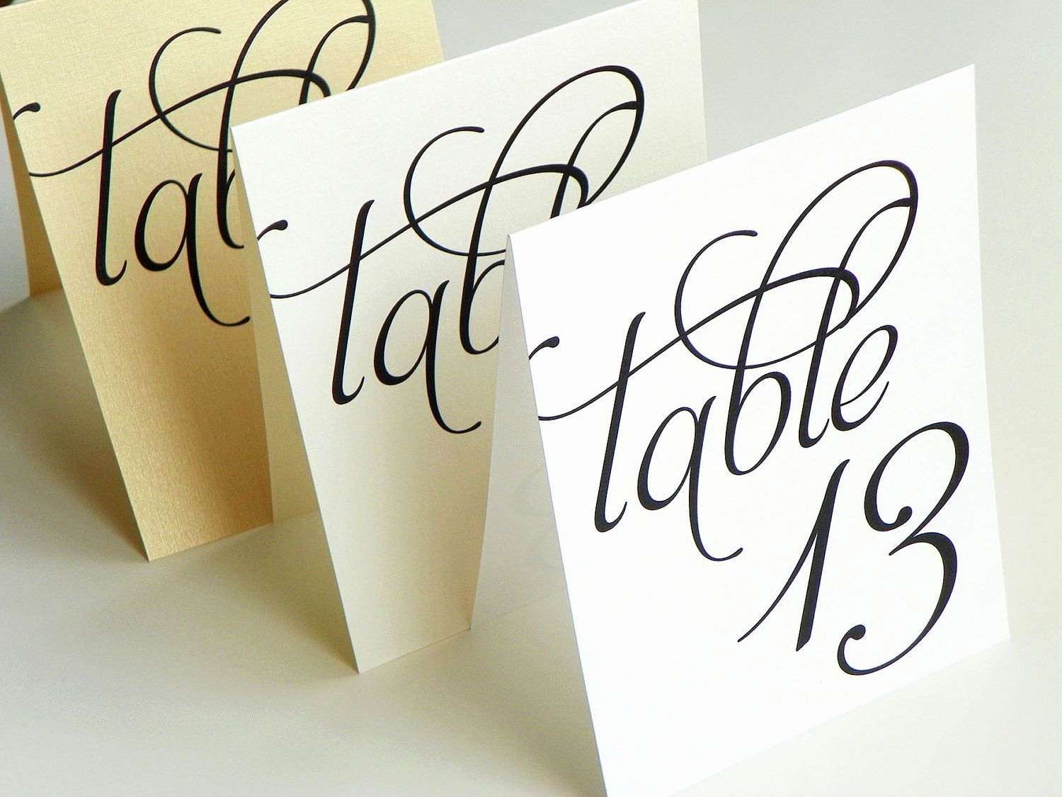 Wedding Table Cards Template Inspirational Scripted Pearl Shimmer Table Numbers Table Number Signs