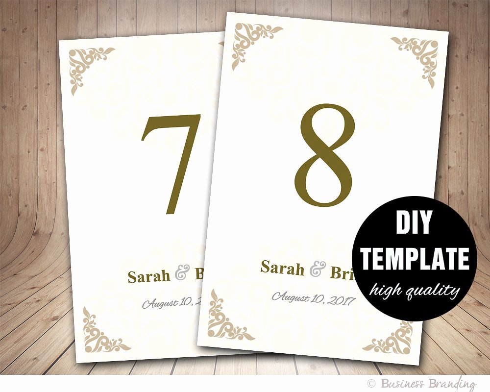 Wedding Table Cards Template Inspirational Wedding Table Card Template Printable Wedding by