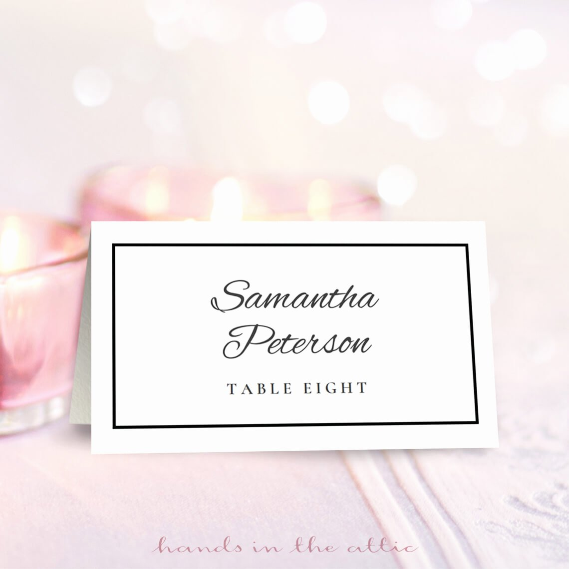Wedding Table Cards Template Lovely Wedding Place Card Template Free Download