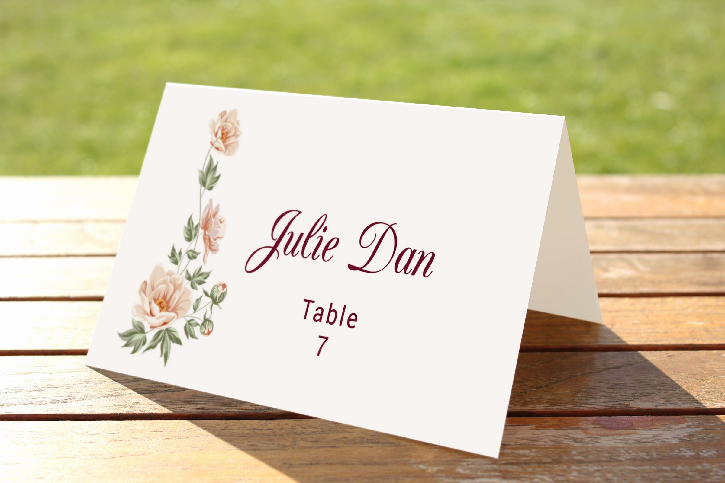 Wedding Table Cards Template Luxury Wedding Table Place Card Template Card Templates