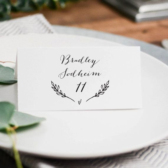 Wedding Table Cards Template New Best 25 Place Card Template Ideas On Pinterest