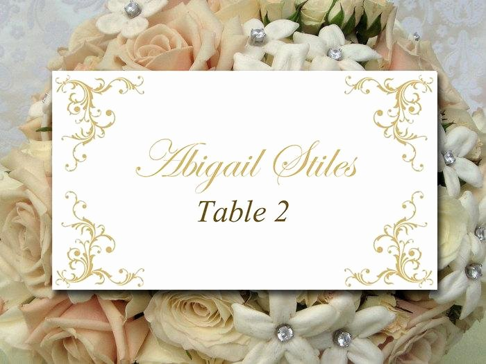 Wedding Table Cards Template New Diy Wedding Place Card Template Printable Escort Card