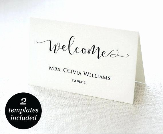 Wedding Table Cards Template New Printable Place Cards Template