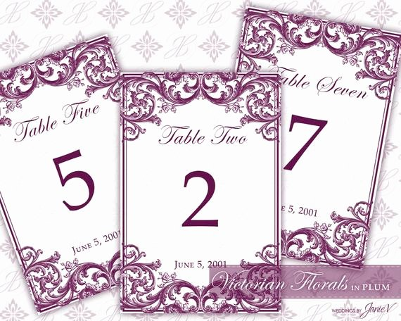 Wedding Table Number Template Best Of Diy Printable Wedding Table Number Template Printable Table